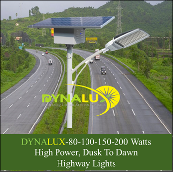 40 to 200 Watts, Fully Automatic, Dusk to Dawn High Power Solar Street Lights