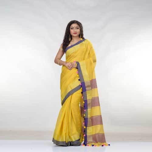 Ladies Blended Cotton Saree
