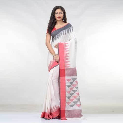 Ladies Pure Linen Saree
