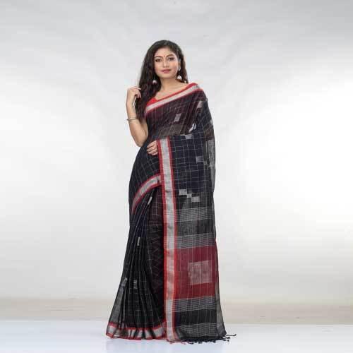 Ladies Designer Pure Linen Saree