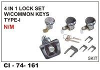 4 In 1 Lock Set W/Common Keys Type-1