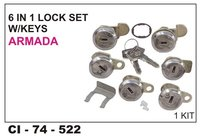 6 In 1 Lock Set  W/Keys Armada