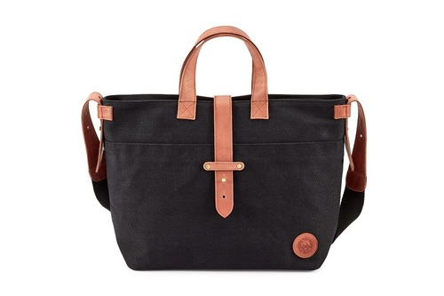 Waxed Canvas & Leather HandBag
