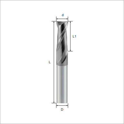 Square 2F Type Solid Carbide Endmills