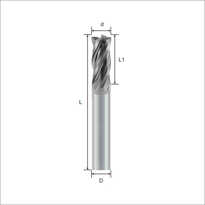 Square 4F Type Solid Carbide Endmills