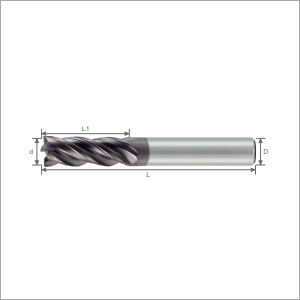 Variable Spacing 4F Type Varix Carbide Endmills