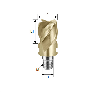 Square Head-4F Type Carbide Exchangeable Head Endmills