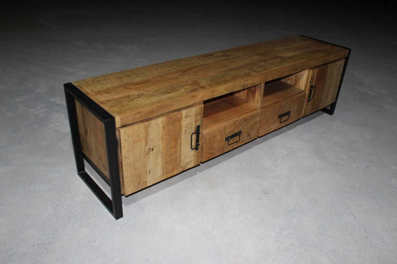 Modern Industrial Media Console, Console Table, TV stand, Entertainment Center
