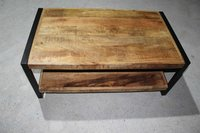 Industrial Coffee Table with Complete Polish & smooth finish