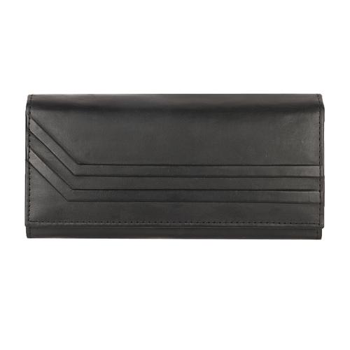 Genuine Black Leather Wallet Ladies
