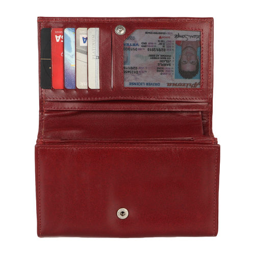 Genuine Brown Leather Wallet Ladies