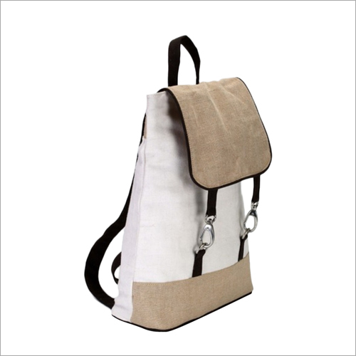 Jute Stylish Backpack Bag