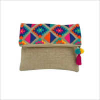 Jute Embroidery Hand Purse