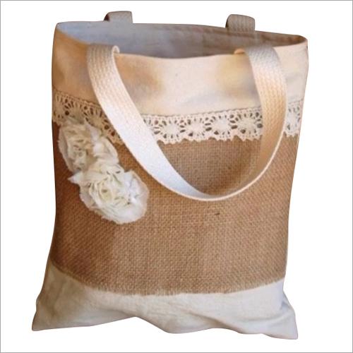 Jute Designer Shoulder Shopping Bag