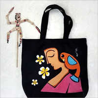 Jute Printed Shoulder Bag