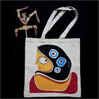 Jute Designer Printed Shoulder Bag