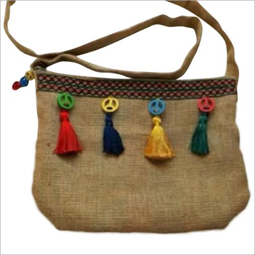 Jute Embroidered Fancy Shoulder Bag