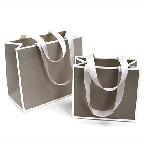 Jewelry Packaging Ribbon Handle Paper Bag
