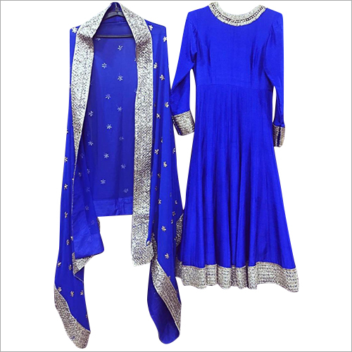 Ladies Royal Blue Anarkali Suit