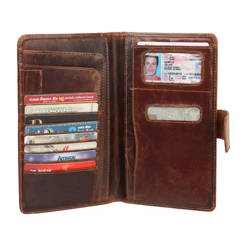 Genuine leather wallet ladies