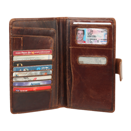 Genuine leather wallet ladies