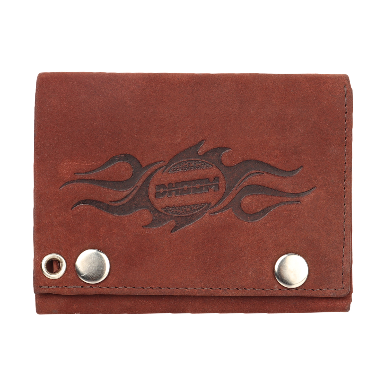 Genuine leather chain wallet
