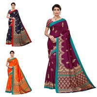 Fancy design art silk saree