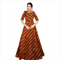 Ladies Printed Gown