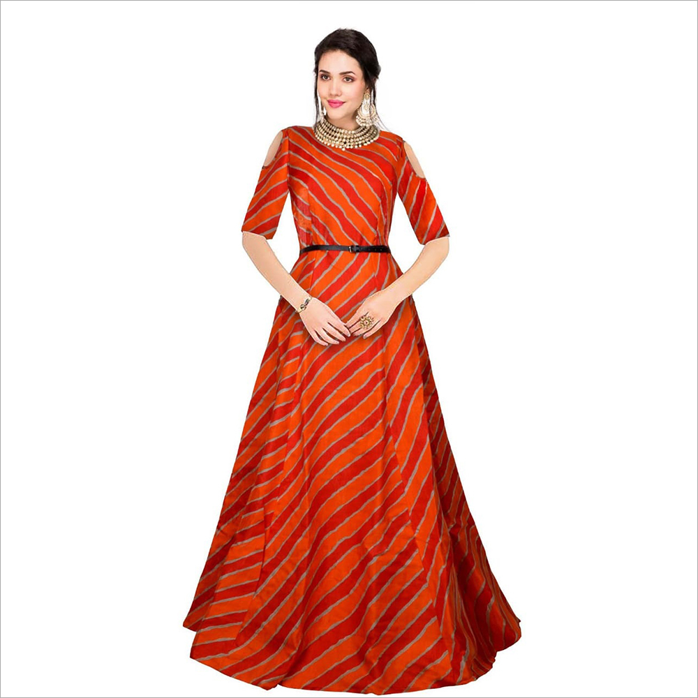 Ladies Red Gown