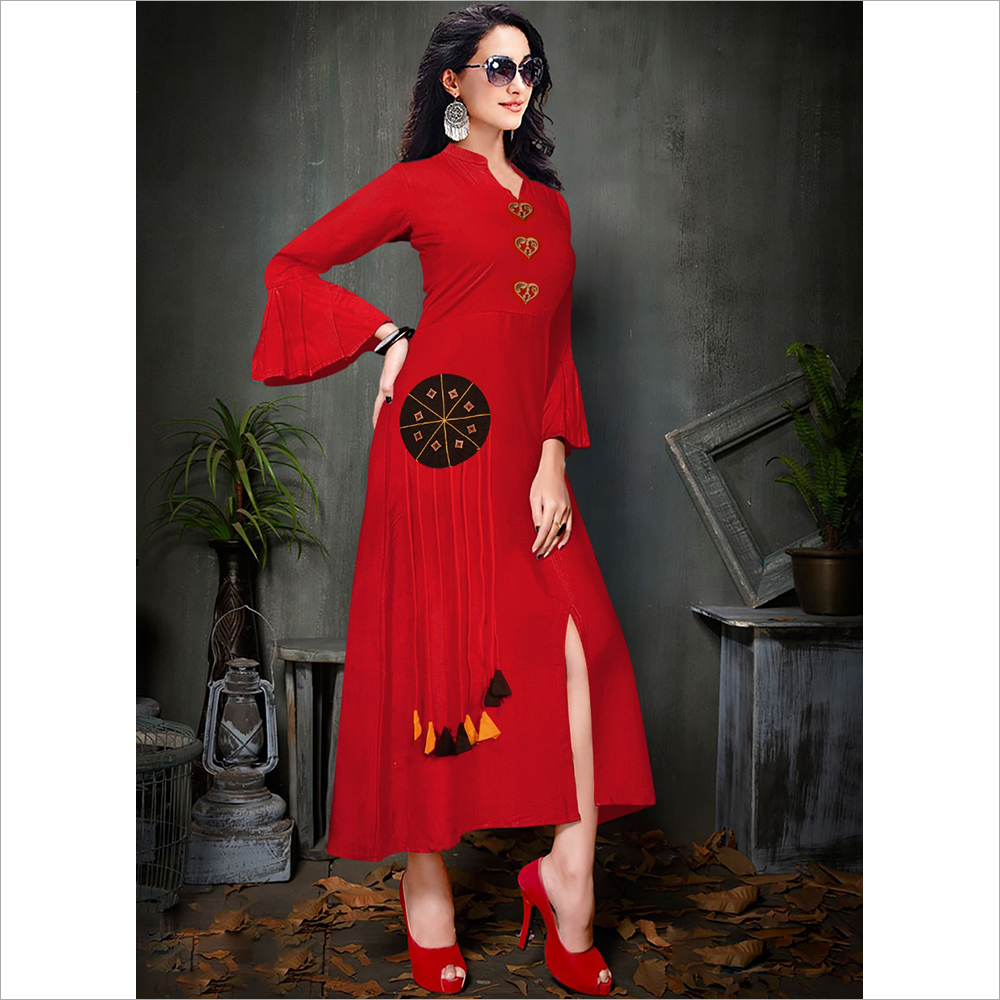 Ladies Designer Red Kurti