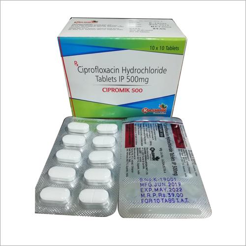 500 mg Ciprofloxacin Hydrochloride Tablets IP