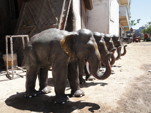 FRP ELEPHANT STATUES