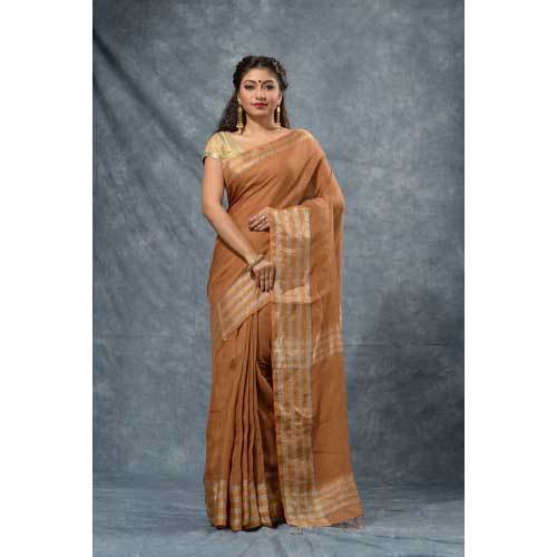 Ladies Handloom Linen Saree