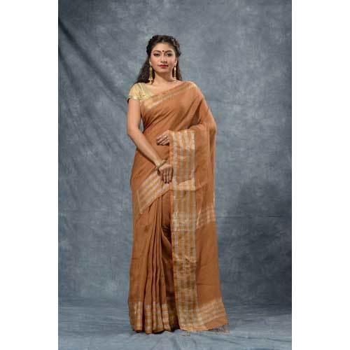 Ladies Handloom Linen Saree
