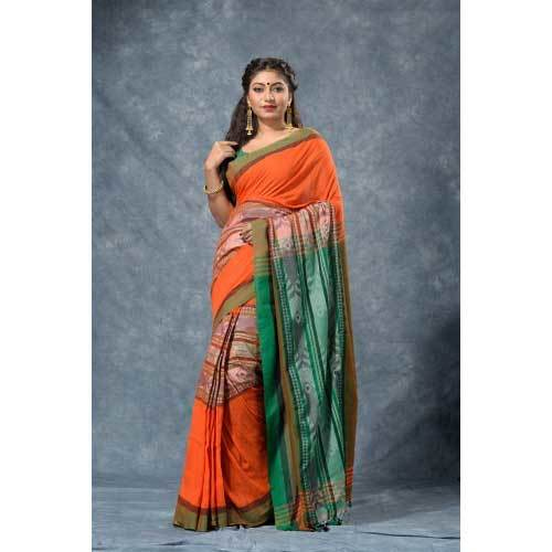 Ladies Fish Cotton Saree