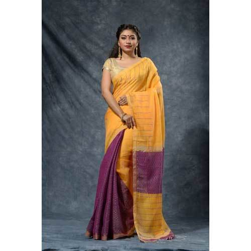 Ladies Blended Cotton Silk Sarees