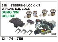 6 In 1 Steering Lock Kit W/Plain D.B Lock Sumo N/M Deluxe