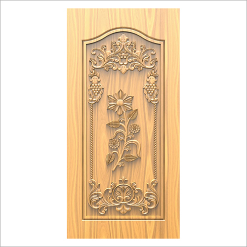 3D Carved Wooden Door