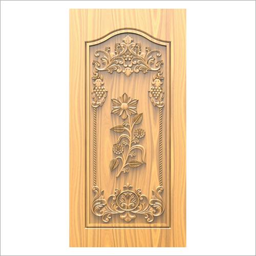 3D Carved Wooden Door