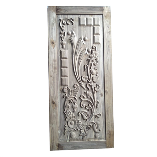 3D Carved Teak Wood Door