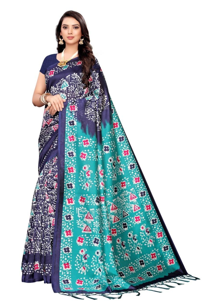 New designer art silk saree with jhalar