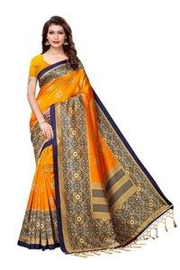 New Designer Mysore Silk saree with jhalar