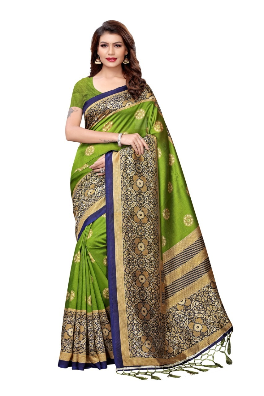 New Designer Mysore Silk saree with jhalar