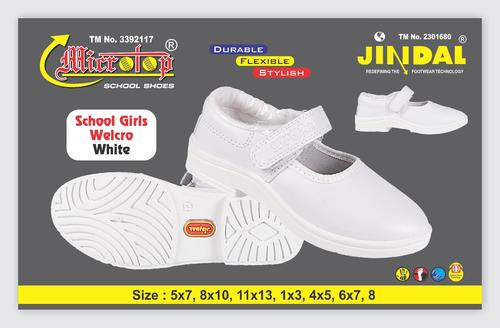 GIRL SHOE WHITE WELCRO