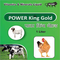 1 ltr Power King Gold Veterinary Vitamin And Minerals Liquid Supplement