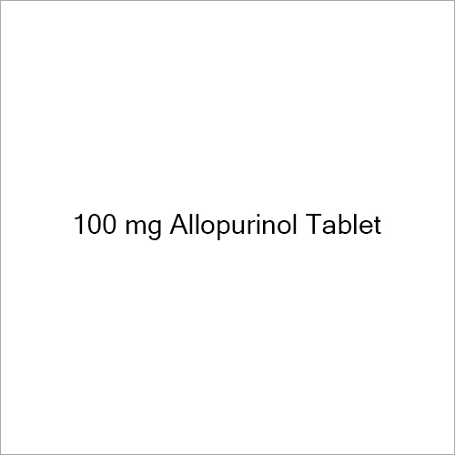 100 mg Allopurinol Tablet