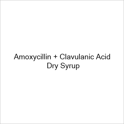Amoxycillin And Clavulanic Acid Dry Syrup