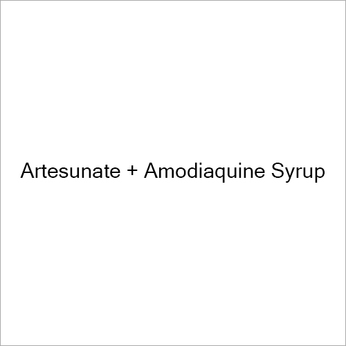 Artesunate And Amodiaquine Syrup