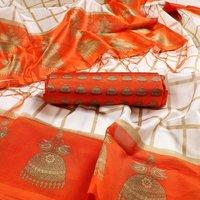 printed mysore art silk with jhalar