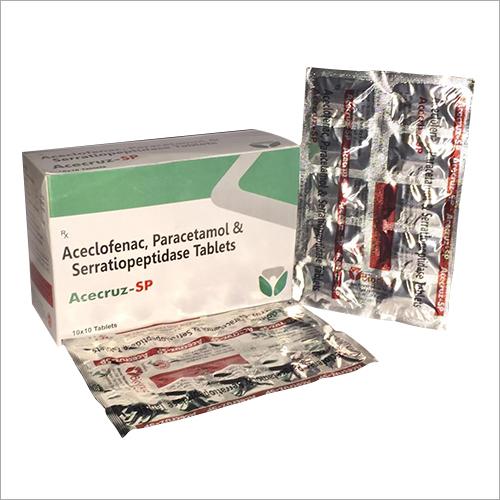 Aceclofenac Paracetamol And Serratiopeptidase Tablet